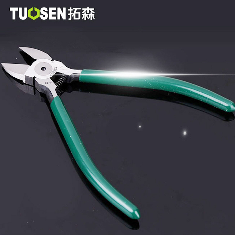 TUOSEN 6 inch Plastic Pliers Nippers CR-V Steel Made Jewelry Electrical Wire Cable Cutters Cutting Hand Tools Electrician tool