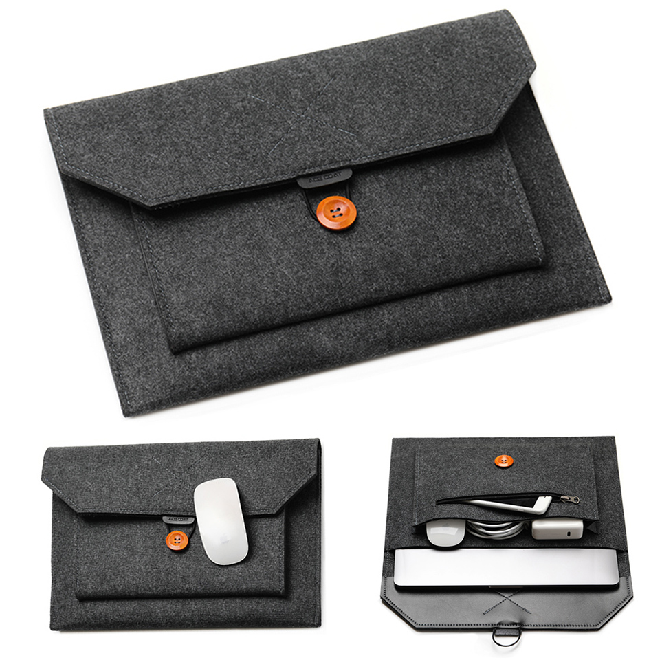 "11/12/13/14/15""Laptop Sleeve Felt Ultralight Notebook Tablet Pad Case Multi-pocket Pouch Bag Briefcases for Apple Macbook/ Asus"