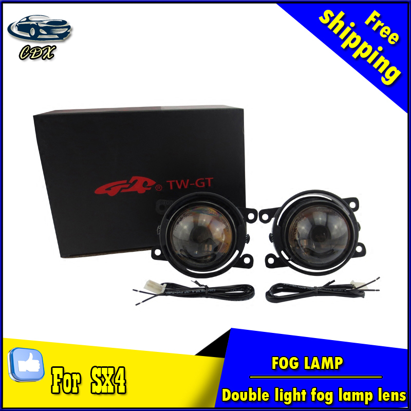 Car Styling HID Double light lens fog lamp for SX4 2014-2016 E-MARK & DOT Authentication for SX4 foglight Accessories