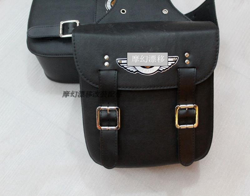 Free shipping motorcycle side satchel side box kit-bag small bag Universal  saddle bag Knight фото