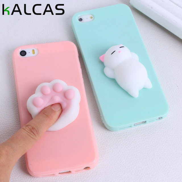 factory price fb05e 4b60f US $1.1 31% OFF|Pressure Release Phone Case For iphone 6 Case Seal Sea Lion  3D Toys Squishy Squeeze Soft Cover For iphone 6 6s 7 Plus Capa-in Fitted ...