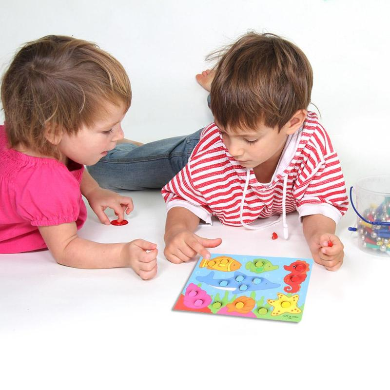 Color Cognition Board Wooden Toy Jigsaw Montessori ...