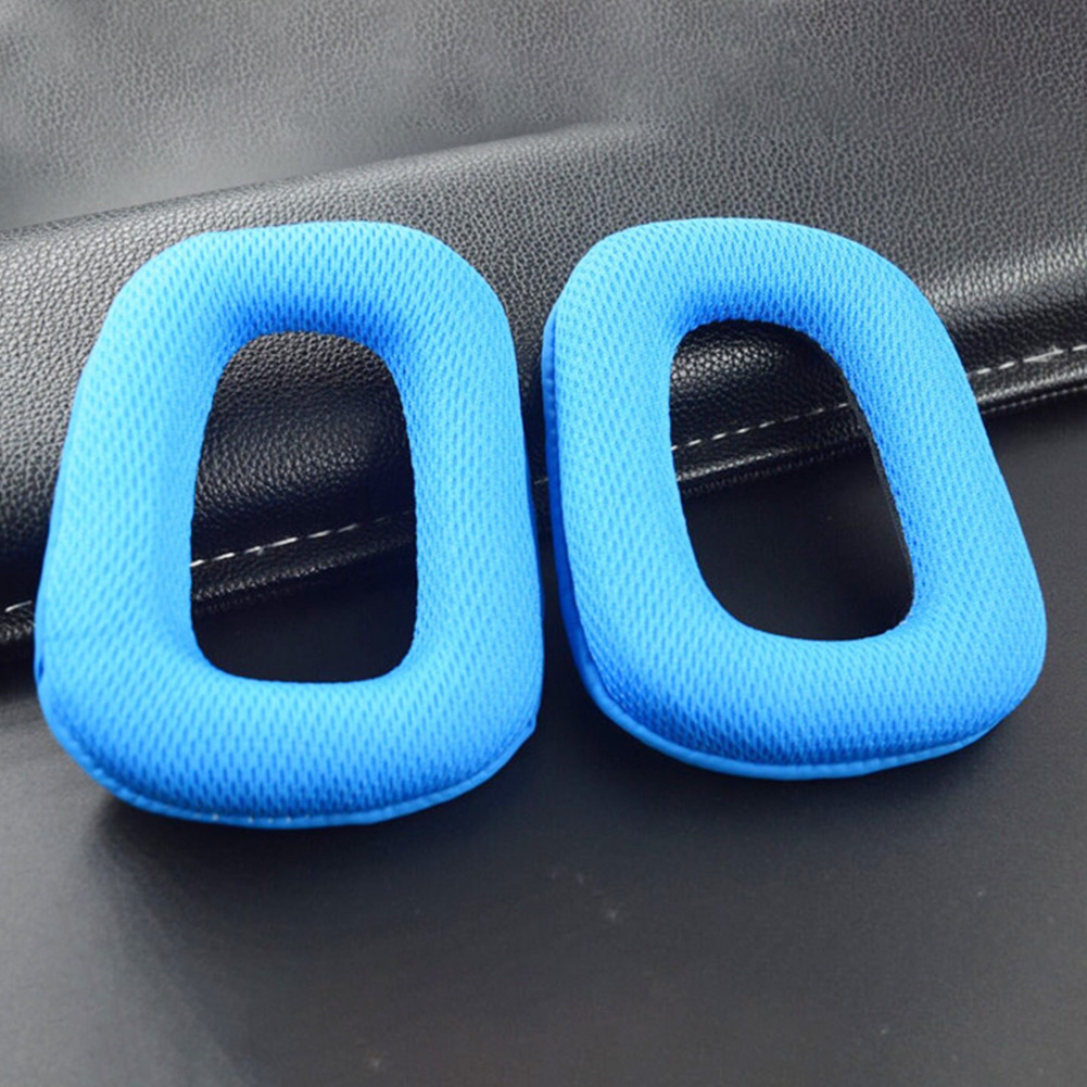 1 Pair Headphones Cushion Replacement Cover Mesh Fabric Sponge Women Men Parts Accessories Ear Pads For Logitech G35 G930 G430 image