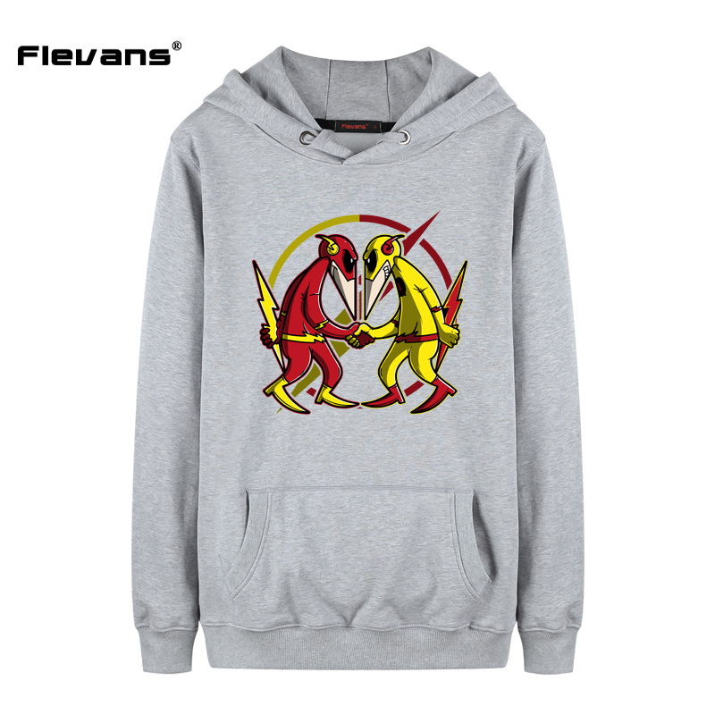 Flevans New Fashion Men Sweatshirt Winter Autumn Hoodes The Flash Print Funny Hoody Long Sleeve Costume for Man Fashion Pullover