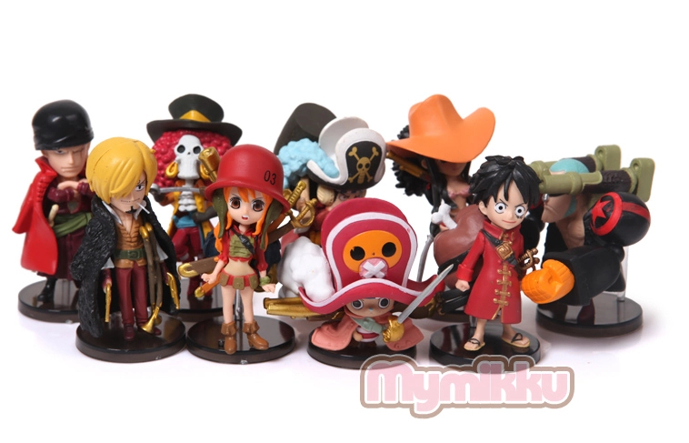 [2015 new] Free Shipping Big 5-8cm One Piece luffy Ace 9pcsset  PVC Action Figure Collection Model Toy Gift