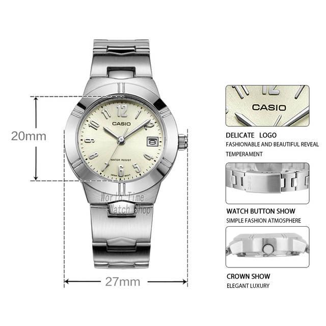 b40b7b1c18f placeholder Casio relógio Analógico de Quartzo das Mulheres Assistir  Pequeno Mostrador do Relógio de Pulseira de Aço