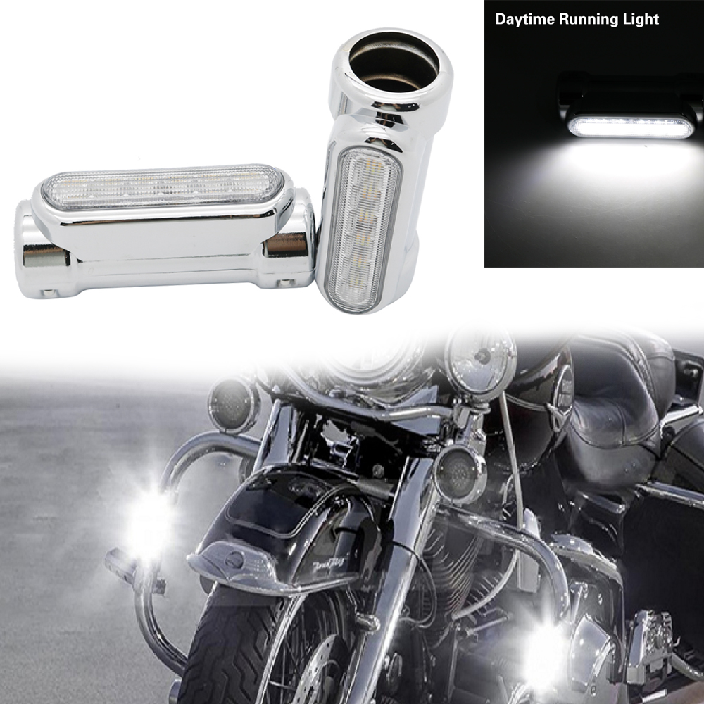 Motorcycle Highway Crash Bar Light Switchback Driving Light 12 LED For Harley Touring Models