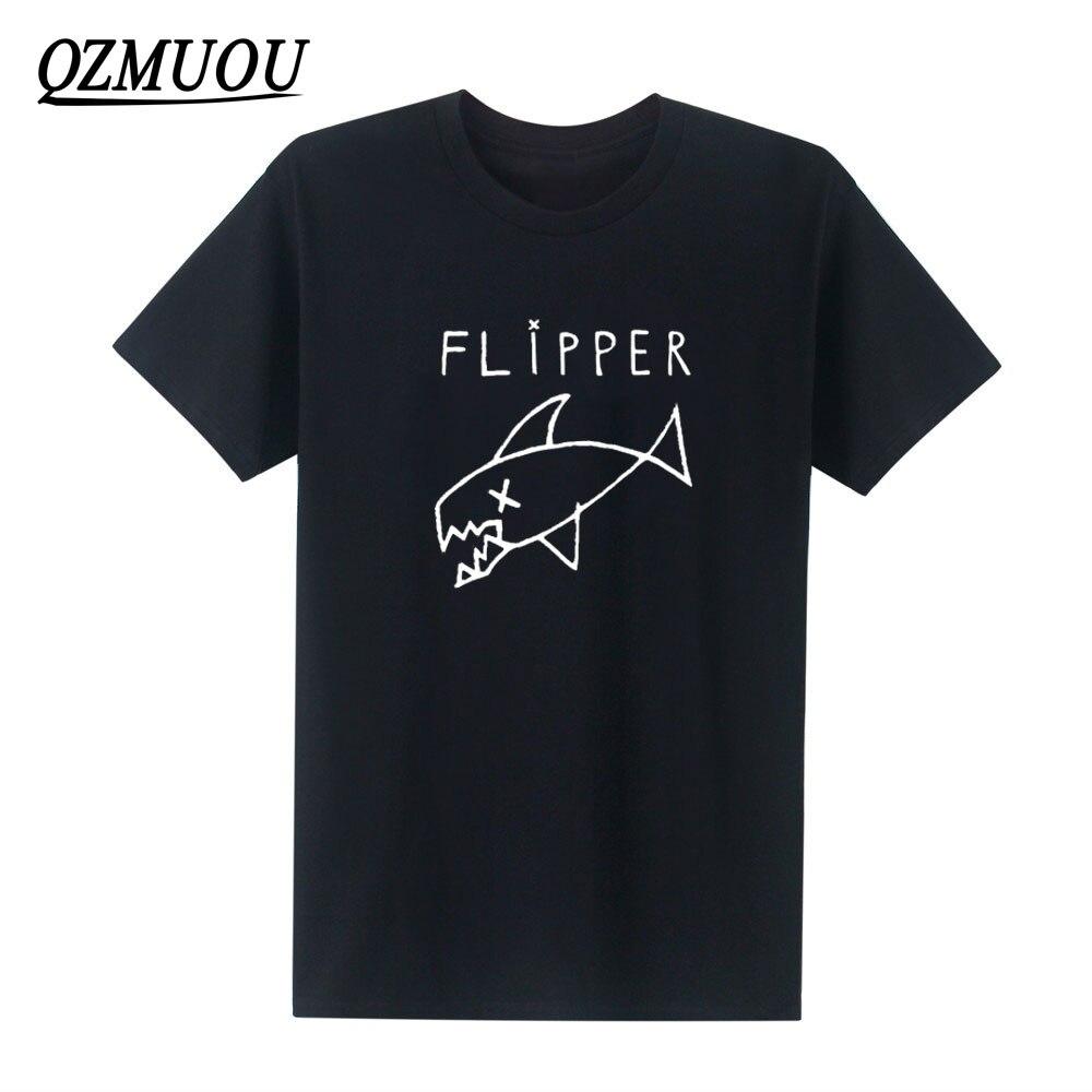 New Flipper Nirvana Kurt Cobain Rock Music Band   T  -  shirt   Unisex Cotton O Neck Hip Hop   T     Shirt   with Short Sleeves Size XS-XXL