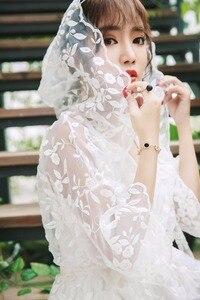 Image 2 - גלימת נשים שמלה אלגנטי הלבשת כתונת תחרה לבנה ארוך שמלת גבירותיי חתונה שמלת מסיבת שמלה