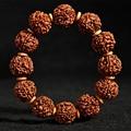 JoursNeige Tibetan Kingkong Bodhi Bracelet 18mm Beads Round Rudraksha Bodhi Seeds Buddha Prayer Bracelet Japa Mala Wristband