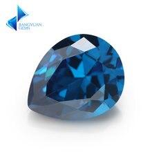 Темно синий кубический цирконий в форме груши aaaaa 2x3 10x14