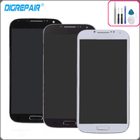 I9500 Lcd For Samsung Galaxy S4 I9500 LCD Display Touch Screen Digitizer With Bezel Frame Full