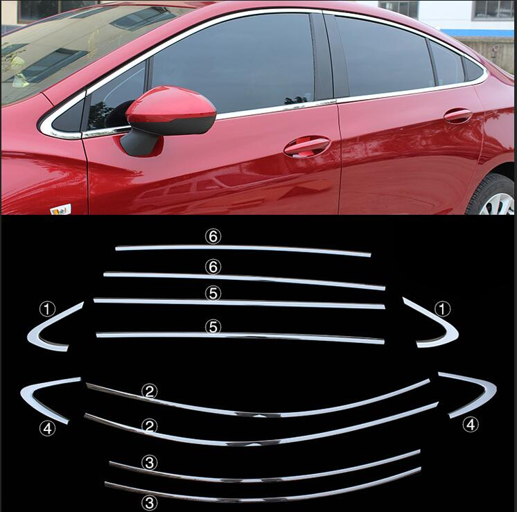 lane legend case for Chevrolet Cruze 2017 Car Styling high quality The door stainless steel decoration 12pcs free shipping high quality car central station mat sticker for chevrolet cruze black 1pcs free shipping kl12329