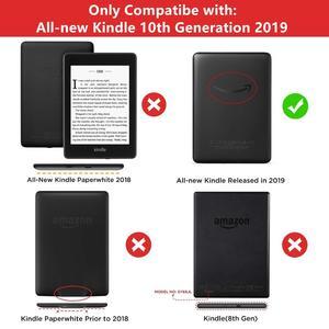 Image 2 - Do całkowicie nowego futerału Kindle 2019 z teksturą materiałową etui do smartfona ze skóry ekologicznej PC z powrotem sztywne etui do całkowicie nowego Kindle 10th J9G29R 2019 wydany
