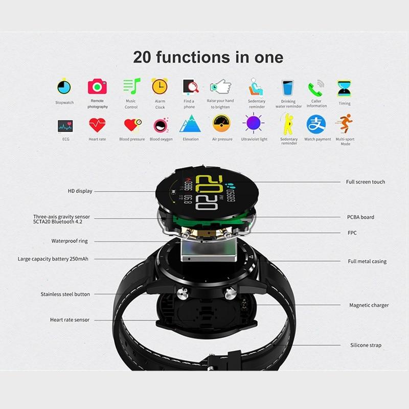 מיכל אסלה חרסה DT 28 גברים חכמים שעונים fashion1.54 אינץ מסך מגע Heart Rate Monitor שלב הרוזן בישיבה תזכורת Waterproof ספורט Smartwatch (5)