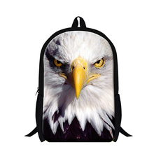 Personalized bald eagle bird backpack for teenagers children,animal back pack mochila lightweight for boys,women's fashion bag