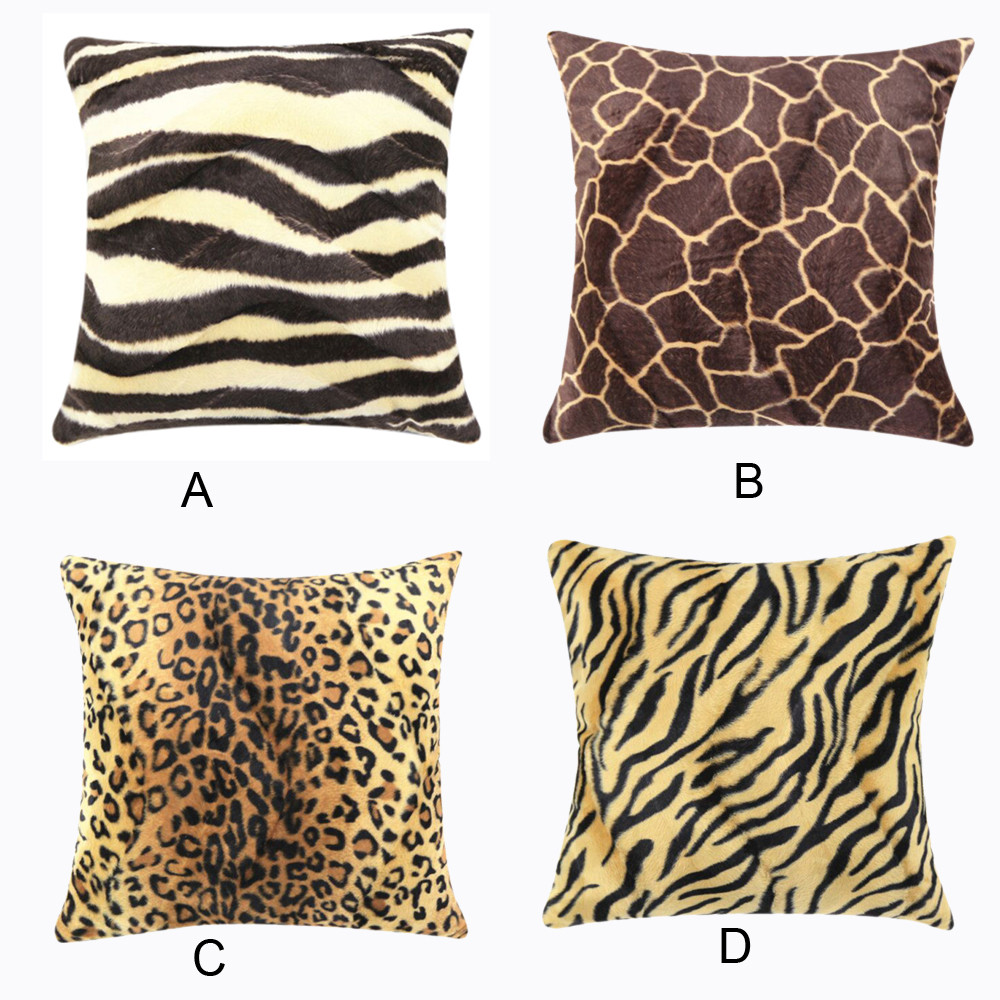 animal print sofas vanguard sectional zebra leopard pillow case sofa waist throw cushion cover home decor 45cm office gift decorativ