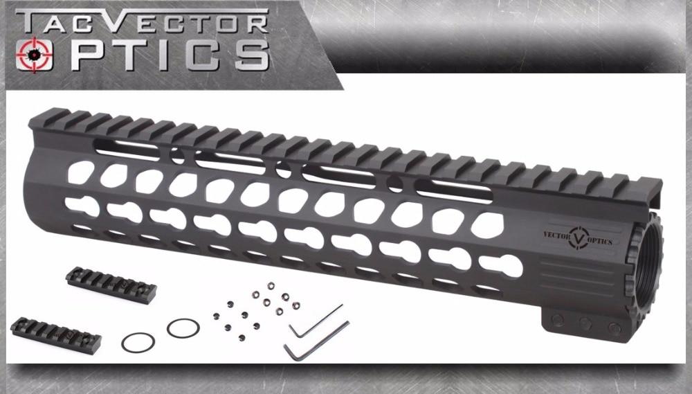 Vector Optics Slim KeyMod 10 Inch Free Float Handguard Mount with Steel Barrel Nut Shim fit Real Ruger DPMS Bushmaster AR15 M4 стоимость