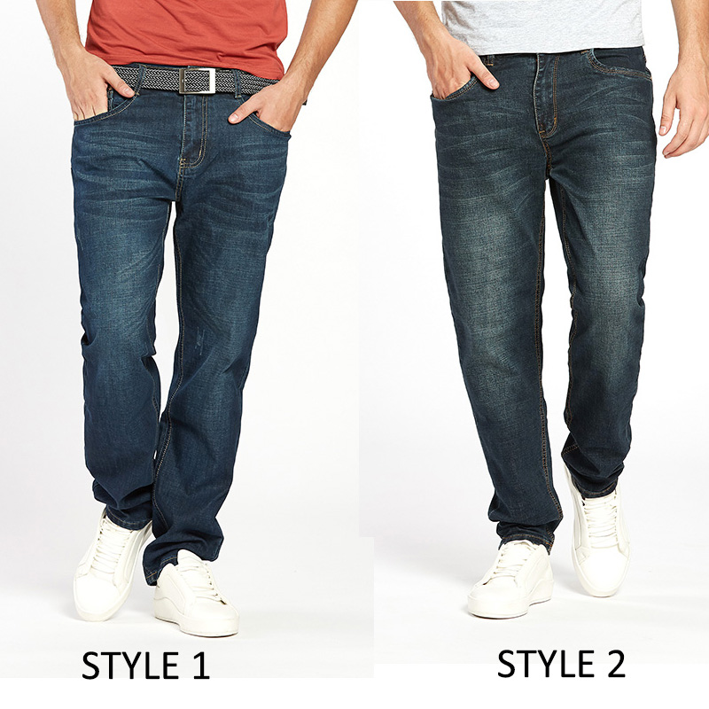 Trendy relax jeans blue denim 2