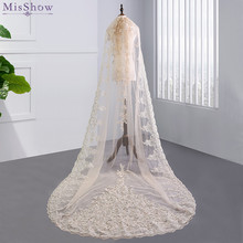 MisShow High-end Ivory One Layer 3 Meters Long Wedding Veil