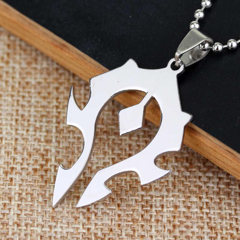 Game Wow World Of Warcraft Series Torque Horde Symbol Necklace Warcraft Hearthstone Horde Symbol Collier Pendant Necklace World Necklace Pendant Necklacecollier Pendant Aliexpress