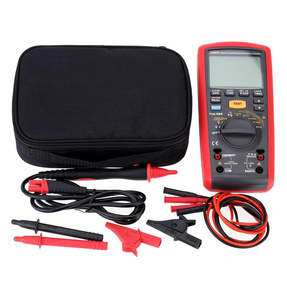 Handheld UT505B Ручной цифровой тестер сопротивления изоляции AC/DC измерение напряжения