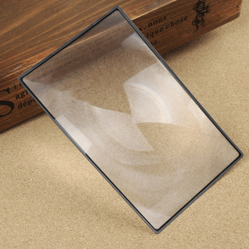 Free Shipping 180X120mm Convinient Rectangle Flat PVC Magnifier Sheet X3 Book Page Magnification Magnifying Reading Glass Lens