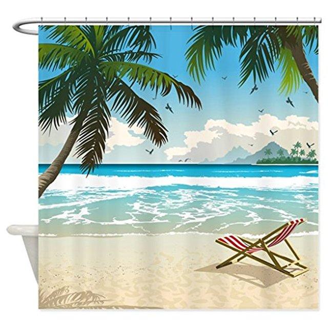 Ocean Beach Seascape White Wooden Windows Summer Tropical Waterproof ...