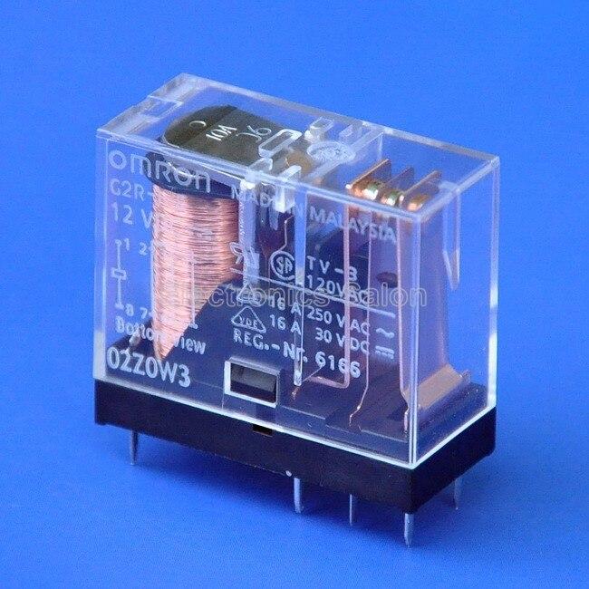 (2 Pcs/lot ) 16 Amp SPDT Power Relay, G2R-1-E 12VDC.