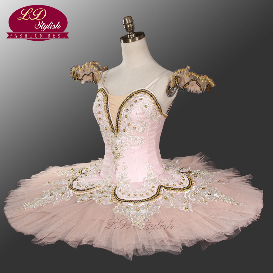 Adult Pink Ballet Tutu Professional Stage Dancewear Blue And White Classical Ballet Performance Costumes LD0028