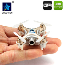 Cheerson CX-10W Mini Quadcopters Rc Dron FPV Flying Camera Helicopter Mobile Control WiFi Drones With 0.3MP Camera