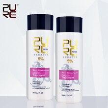 PURC 2pcs 100ml 5% Keratin formalin straightening and hair treatment Brazilian keratin treatment hair care set free shipping