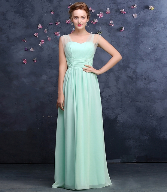 V-Neck Chiffon Bridesmaid Dress 6