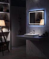 Поперечный подсветкой Ванная комната квадратное зеркало настенное крепление Ванная комната палец light touch зеркало Зеркала для ванной коробк