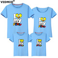 VIDMID Family T-Shirts 2017 Summer Family Matching Clothes Family Look T-shirt Tees For Mother Daughter Father Son Kids 6001 27