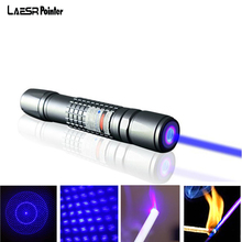 On sale Powerful Lasers Sight Rifle Scope Riflescope CNC Blue Laser Pointer Lzaer Pen Fixed Focus with battery Charger+Box