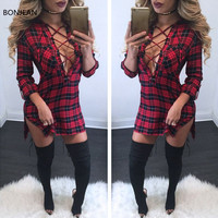 Free Shiping 20172017 Fall Coat Tattoo In Long Paragraph Chest Strap Long Sleeve Lady Shirt