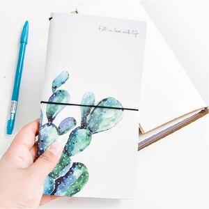 Image 5 - Kawaii Cute Flower Leaf Notebook Stationery Diary Agenda Pocket Notepad Planner Weekly Book Travel School Office Supplies sl2056