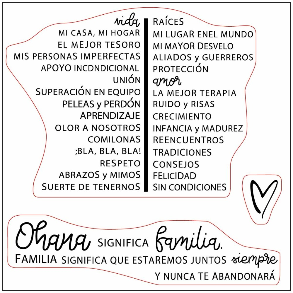 Spanish word Transparent Clear Stamps / Silicone Seals for ...