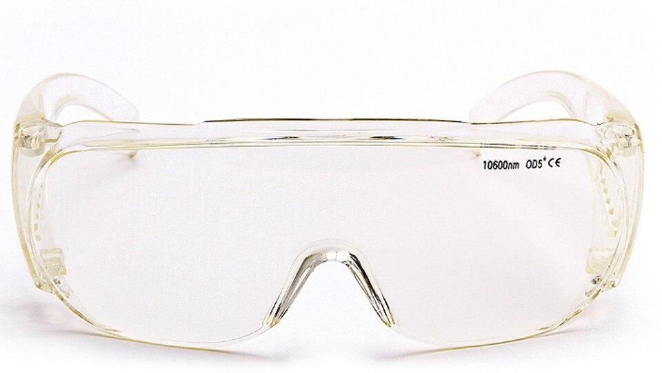Lunettes de protection laser CO2 de haute qualité, lunettes de sécurité de 10600 nm longueur d'onde typique pour graveur laser Co2 et cutter