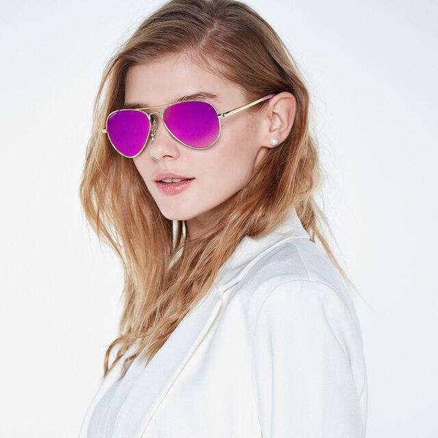 VEGOOS Aviation Mirrored Sunglasses Women Vintage Polarized UV400 Protection Fashion Metal Frame Driving Sun Glasses Pink #3025W 2