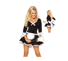 Lingerie Sexy Maid Dress Black and White Uniform Temptation One Piece Anime Halloween Cosplay Costume Cosplay Feminino BI153