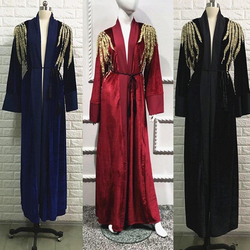 Abayas For Women Kaftan Velvet Abaya Turkey Muslim Hijab Dress Qatar Ramadan Caftan Marocain Robe Dubai
