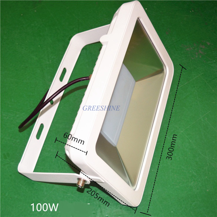 ultrathin LED flood light 100W 70W White  AC85-265V Waterproof IP66 Floodlight Spotlight Outdoor Lighting Projector Freeshipping ultrathin led flood light 100w led floodlight ip65 waterproof ac85v 265v warm cold white led spotlight outdoor lighting