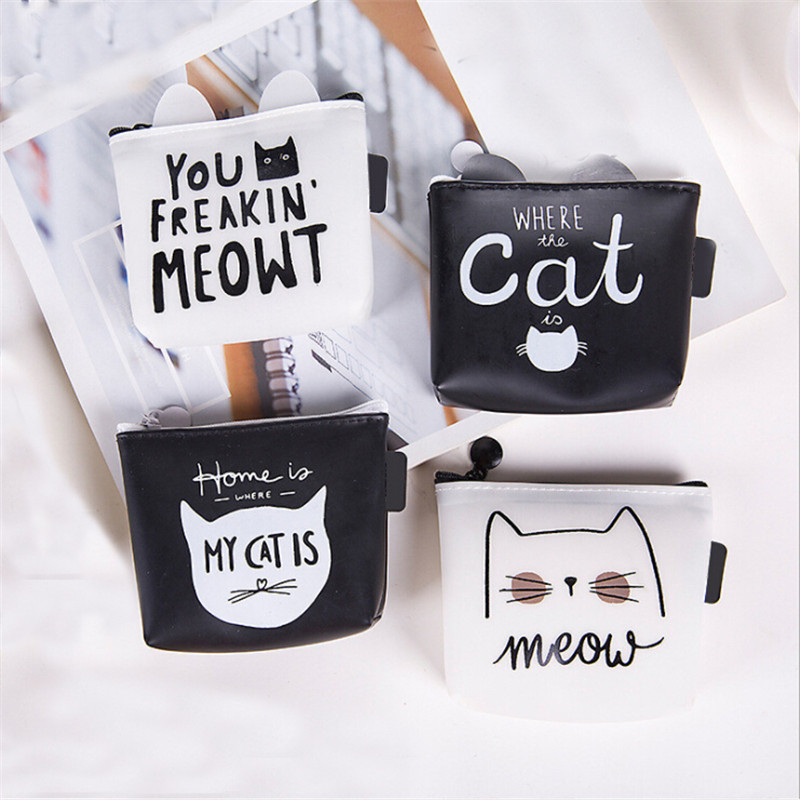 Fashion Portable Make Up Bag Travel Cosmetic Bags Women Makeup Case Toiletry Wash Storage Pouch Cartoon Cat Beauty Organizer Bag
