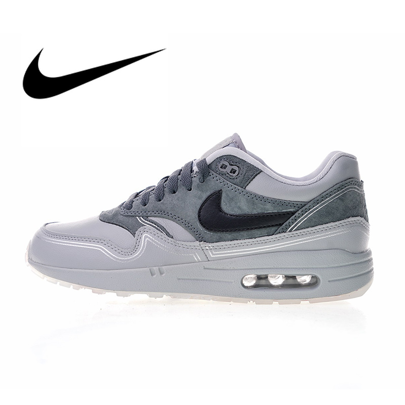Original Authentic Nike Air Max 1 Pompidou Men's Running Shoes Outdoor Sneakers Breathable Designer Athletic 2018 New Arrival