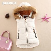 Podzimní/zimní teplá vesta s kapucí pro ženy