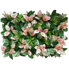 Artificial Plant Wall Green Lawn Tropical Leaves Clover Home Wedding Background Decorative Flower DIY 10pcs/lot