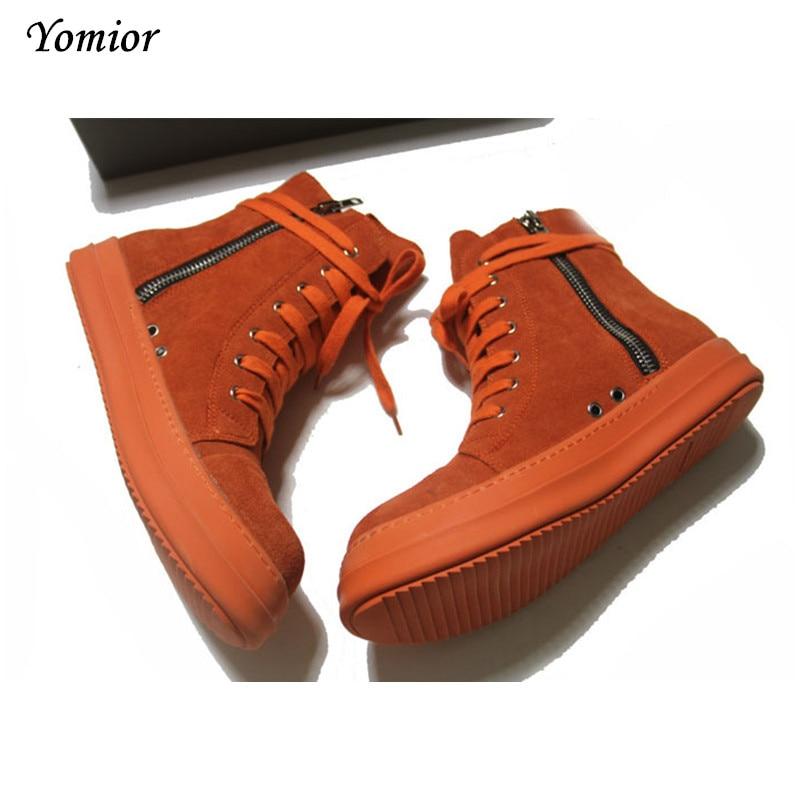 Nieuwe Heren Schoenen Hoge Kwaliteit Hoge Platform Man Laarzen Echt - Herenschoenen - Foto 3