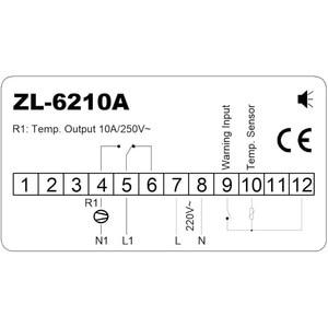 Image 4 - ZL 6210A, Digital, controlador de temperatura, termostato, controlador de almacenamiento en frío económico, Lilytech